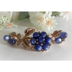 Coro Blue Moonstone Brooch and Earrings, Coro Pin, Signed Vintage... ($22) ❤ liked on Polyvore featuring jewelry, coro, vintage jewellery, moonstone jewellery, vintage jewelry sets and coro jewelry