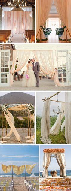 wedding ceremony arches Wedding Ceremony Swag with Style