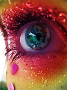 Glitter Makeup colour, eyes, glitter, makeup, rainbow - inspiring picture on Favim . Pretty Eyes, Cool Eyes, Beautiful Eyes, Amazing Eyes, Make Up Art, Eye Make Up, How To Make, Zoella Beauty, Rainbow Eyes