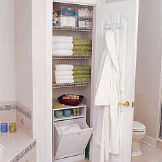 i could make a laundry chute in the linen closet!