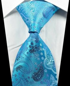 New Classic Paisleys Light Blue JACQUARD WOVEN 100% Silk Men's Tie Necktie in Clothing, Shoes & Accessories | eBay
