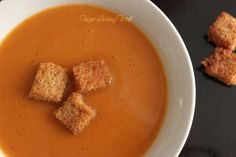 Finger Licking Food: Cream of Tomato Soup – Restaurant style with home-made croutons
