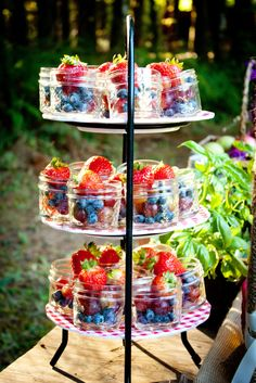 Pretty jars of fruit