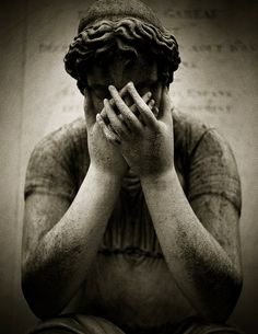 Statue at Pere Lachaise Cemetery ~ Paris, France.