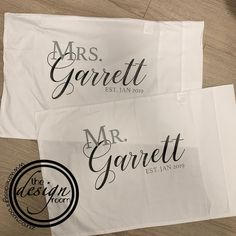Personalised pillowcases- great as a wedding gift or for an anniversary. . Website link in bio www.thedesignroom.co.nz * * * * * * * * * *…