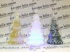"""Candele albero: al centro con meccanismo  www.acasadellanonna.it Cercaci su Facebook """"A casa della nonna"""""""