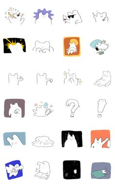개개벌레 벌레 벌레 콘 Cartoon Stickers, Cute Stickers, Cartoon Drawings, Cute Drawings, Calligraphy Doodles, Dog Icon, Doodle Art Journals, Simple Illustration, Posca