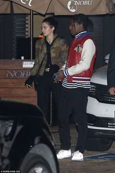 Rarely pictured together: The model, 21, and the rapper, 28, appeared camera shy as they left the popular celebrity haunt in California