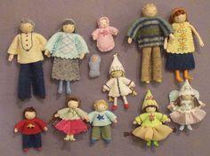 Bendy dolls - dollhouse family by PrincessNimbleThimble, via Flickr