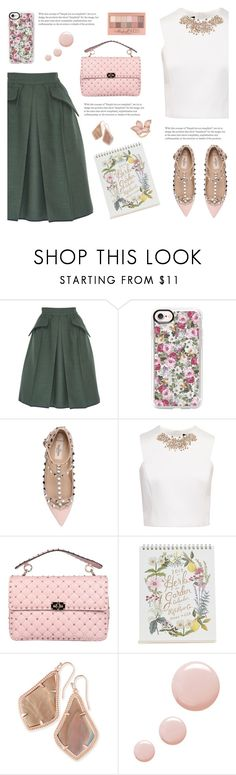"""FL01 (27/09/2017)"" by aneetaalex ❤ liked on Polyvore featuring Edeline Lee, Casetify, Valentino, Ted Baker, Rifle Paper Co, Kendra Scott, Topshop and Maybelline"