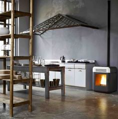 Pellet Stove THEMA by MCZ GROUP | #design Emo Design #kitchen - modern example.