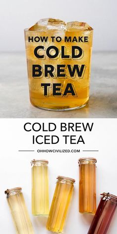 Best Iced Tea Recipe, Iced Tea Recipes, Coffee Recipes, Iced Black Tea Recipe, Vegan Tea Recipes, Herbal Iced Tea Recipe, Drink Recipes, Kombucha, Snacks Für Die Party