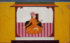 The neglected nayaka.  Series Title: A Garland of Delights.  Suite Name: Rasamanjari.  Creation Date: ca. 1710    Edwin Binney 3rd Collection, The San Diego Museum of Art