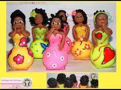 Cómo crear africanas reutilizando botellas de cristal - YouTube African Dolls, Afro, Biscuit, Clay Dolls, Diy Videos, Paper Mache, Plastic Bottles, Crates, Polymer Clay