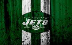 Download wallpapers 4k, New York Jets, grunge, NFL, american football, NFC, USA, art, NY Jets, stone texture, logo, East Division