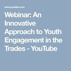 Webinar: An Innovative Approach to Youth Engagement in the Trades - CAF/FCA Elementary Schools, Innovation, Youth, Train, Explore, Engagement, Primary School, Engagements, Strollers