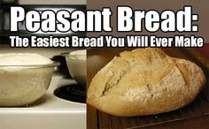 Peasant Bread: The Easiest Bread You Will Ever Make. Peasant bread is no knead bread. easy to make and super yummy. This has to be my favorite bread ever.