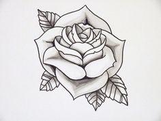 Tattos   Rose Tattoo Outline   Plug Piercing