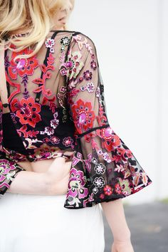 So beautiful! It's all in the details with the Lola Embroidered Blouse