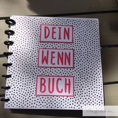 Irgendwie hat mir die Idee mit dem Wenn-Buch so gut gefallen, dass ich gleich no. Somehow I liked the idea with the Wenn book so much that I had to do one more thing right away. This time, a good fr Diy Presents, Diy Gifts, Diy Cadeau, Birthday Presents, Creative Gifts, Just Do It, Origami, Diy And Crafts, Projects To Try