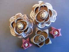 Pretty Little Somethings: Zipper Flower Tutorial