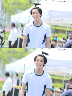 B1A4 GongChan HAHAHA dat hair so cutee .