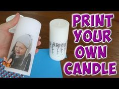 How To Transfer Photos Onto Candles Easy Video Tutorial