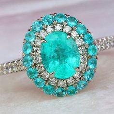 Paraiba Diamond Ring by David Klass Jewelry