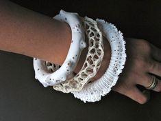 Amazing polymer clay bracelets by @Daniel Torres.
