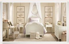 soft colors cream and ivory girls room