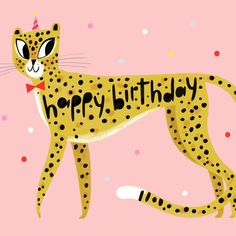 We got a message from this cheetah...and now our first line of birthday cards is complete! #hooray #birthday #card #cheetah #wild #stationery