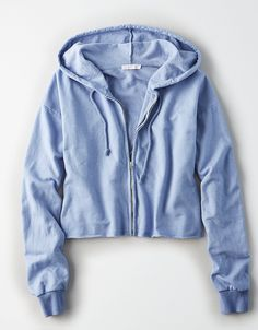 American Eagle Outfitters Don't Ask Why Cropped Hoodie Cute Comfy Outfits, Cool Outfits, Casual Outfits, Crop Top Hoodie, Cropped Hoodie, Blue Hoodie, Hoodie Outfit, Sweater Hoodie, Teen Fashion Outfits