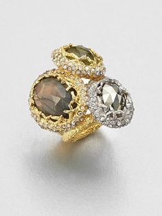 Alexis Bittar - Swarovski Crystal Accented Semi-Precious Multi-Stone Ring