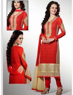 Fabulous Festival Churidar Suit http://www.bharatplaza.com/new-arrivals/salwar-kameez.html