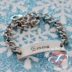 Baby ID bracelet Personalized ID Bracelet by 4everNOurHeart