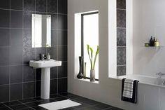 Esta es una colección de baños modernos en colores blanco y negro , una combinación poderosa, dramática y popular que embellece el ambient...