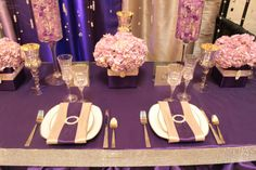 Purple and Gold Wedding | Purple and gold... Funky!