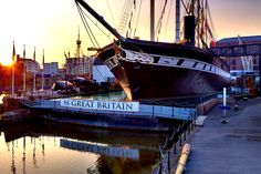 Visit Brunel's ship that changed the world - the SS Great Britain in Bristol. (And the Brunel museum & Docklands that should be open in Visit Bristol, Bristol Uk, Bristol Attractions, Wedding Venues Bristol, Great Days Out, Great Western, England And Scotland, Winter Scenes, Change The World