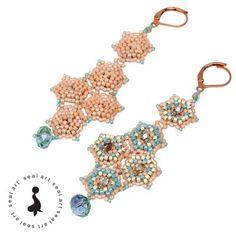 KOLCZYKI 'MOZAIKA' - mozajkowe kolczyki z koralików
