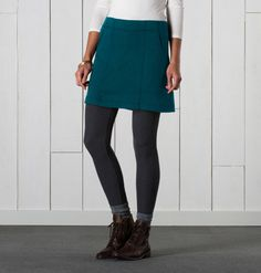 Women's Nixi Skirt ~ Tencel & Cotton Skirt by Horny Toad Pacific Northwest Style, Moroccan Blue, Sustainable Fabrics, Layer Style, Fall Skirts, Warm Outfits, Cotton Skirt, Toad, Style Guides