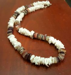 White Puka Shell Chip Surfer With Natural Chip Beach Choker Necklace Design