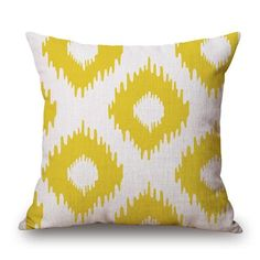 This SALE for a limited time due to limited product quantity: White with Yellow.... Details here: http://www.rousetheroom.com/products/white-with-yellow-diamond-pattern-throw-pillow?utm_campaign=social_autopilot&utm_source=pin&utm_medium=pin