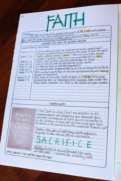 scripture journal - With topic template ideas
