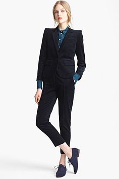 8 Suits That'll Get You Excited About Work #refinery29  http://www.refinery29.com/51635#slide7  Band Of Outsiders Corduroy Blazer, $1,150, available at Nordstrom; Band Of Outsiders Skinny Corduroy Pants, $425, available at Nordstrom.