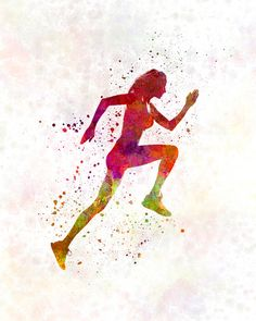 Awesome Stock Illustration Of Woman Jogging Rodria0243s - Search Clip Art Drawings Fine Art Prints ...