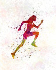 Woman runner running jogger jogging 02 Fine Art by Paulrommer