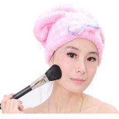 Textiles de Microfibra de Pelo Turbante Sólido Rápidamente Sombrero Cabello Seco Toalla de Baño Accesorios de Baño Ducha De Higiene