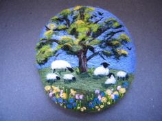 Handmade needle felted brooch/Gift     'Under the Spring Oak'   by Tracey Dunn in Crafts, Hand-Crafted Items | eBay!