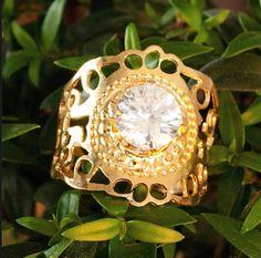 Kabbalah spiral gold ring By Kelka Jewelry