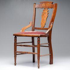 William F. Cody's Chair with Buffalo Head Motif
